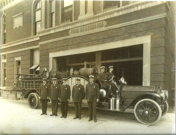 historic Gary Fire Department fire engine photo