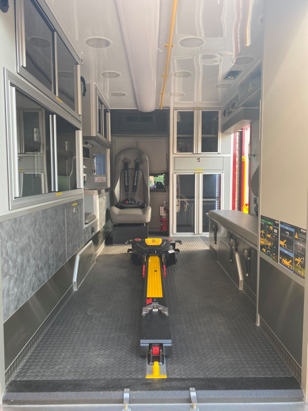 Stryker Powerload system in ambulance