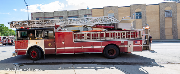 Seagrave ladder truck in Chicago