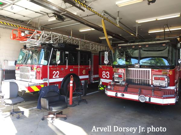 new E-ONE ladder for Chicago FD Truck 22