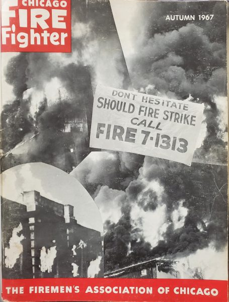 vintage Chicago Fire Fighter Magazine Autumn 1967