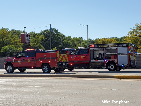 fire trucks in Hoffman Estates