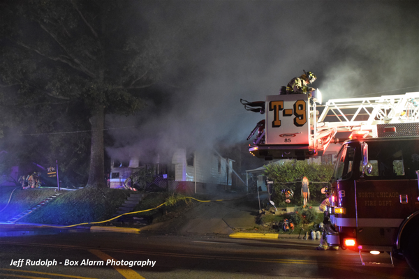 smoke from vacant house on fire