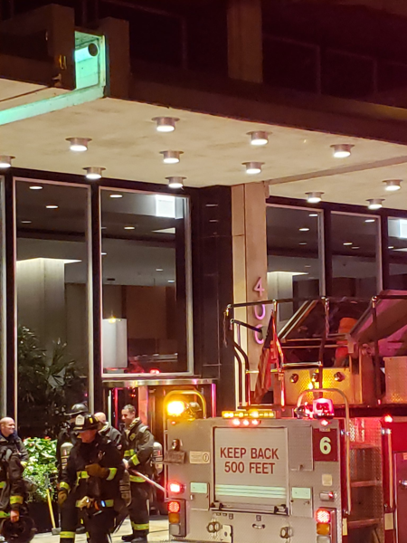 Chicago Firefighters at high-rise fire