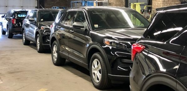 new black Ford Explorers for the Chicago Fire Department