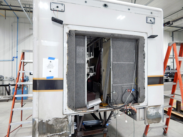ambulance being refurbished