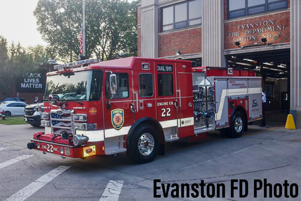 new fire engine for Evanston FD