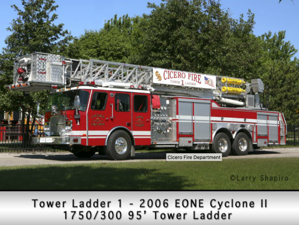 2006 E-ONE Cyclone 95' tower ladder