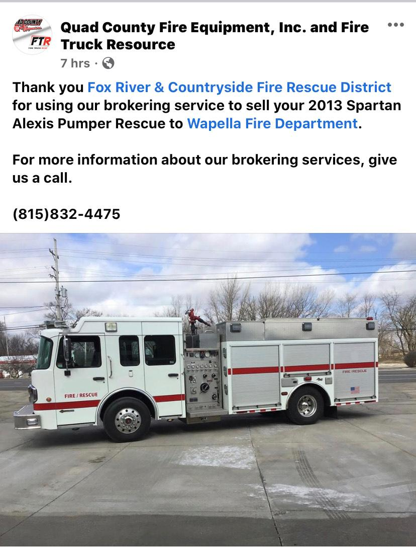 New home for Fox River & Countryside FPD engine