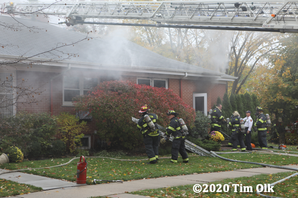 Evanston Firefighters at work