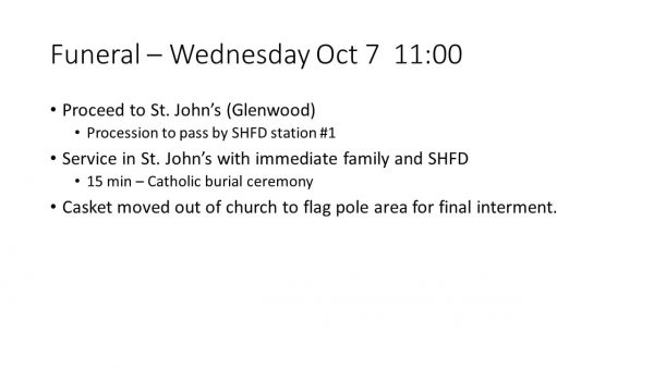 Funeral arrangements for South Holland FD FF/PM Dylan Cunningham