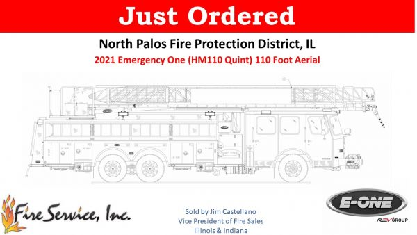 new fire truck for the North Palos FPD in Illinois