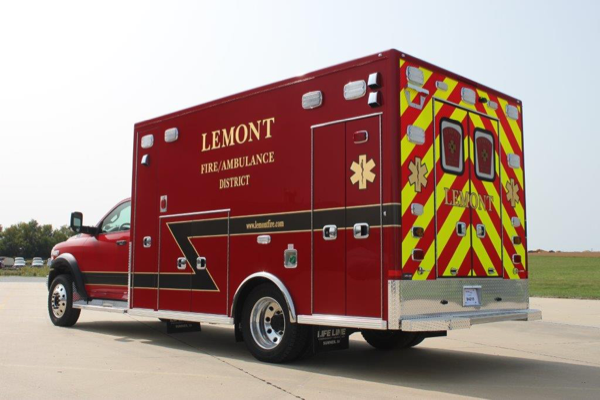 new ambulance for the Lemont FPD