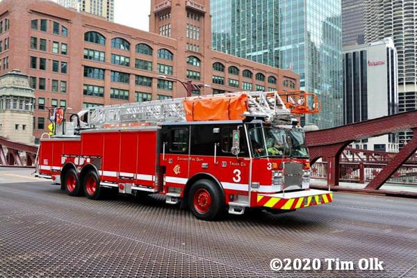 new E-ONE ladder truck for Chicago