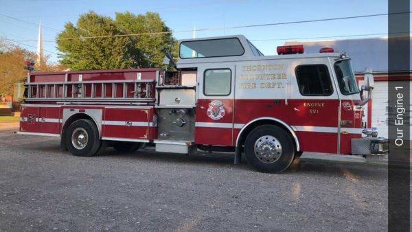 E-ONE Hush fire engine in it's third home