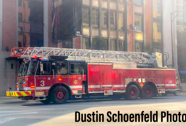 new E-ONE ladder truck for Chicago