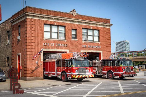 Chicago FD Truck 4 and Engine 8