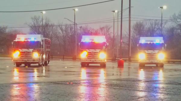 Three 2020 Pierce Enforcer PUC fire engines for the Rockford Fire Department