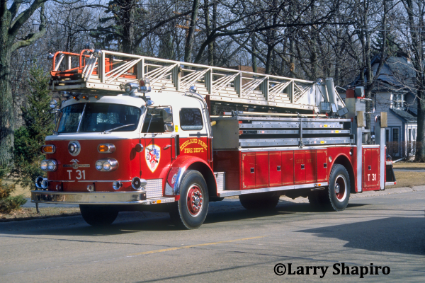 Highland Park Fire Department history