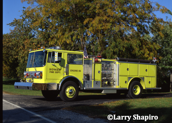 Homer Township FPD Engine 811. Spartan Maxi-Vision/Emergency ONE. Larry Shapiro photo