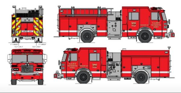 new fire engine design for the Cary FPD