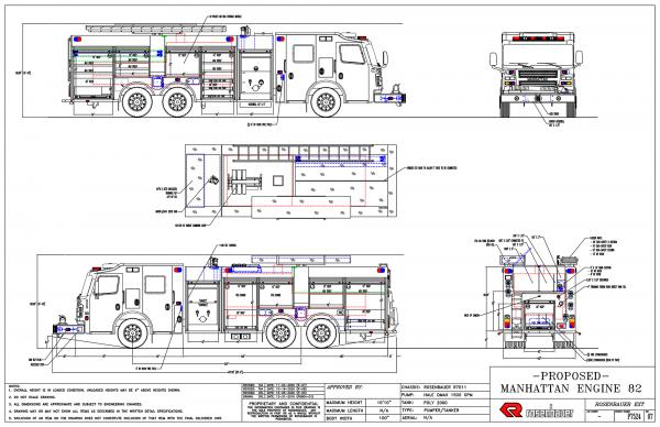 Rosenbauer America EXT pumper tanker drawing