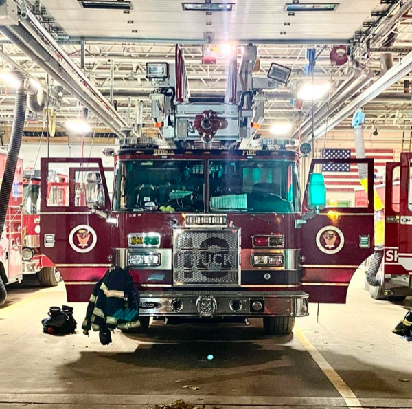Skokie FD Truck 18 after being refurbished