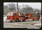 Evanston Fire Department Pirsch tractor-drawn aerial