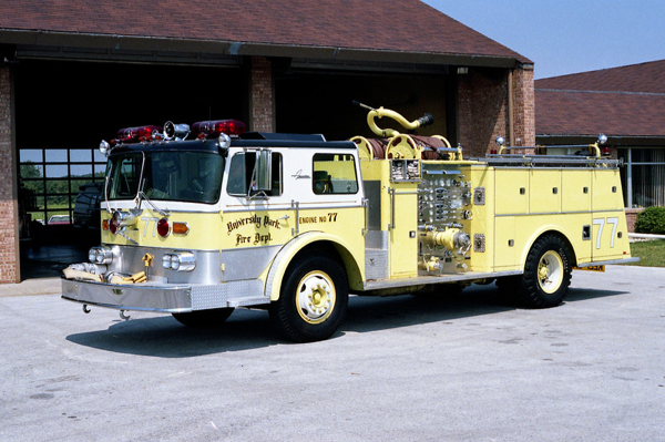 University Park Fire Department history