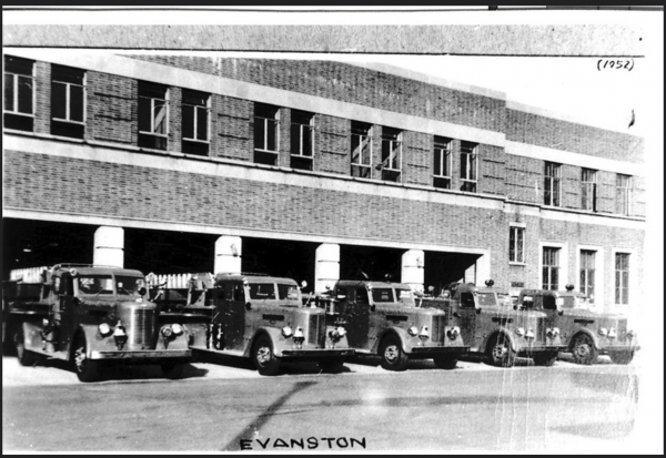 Evanston Fire Department history - vintage Peter Pirsch & Sons fire engines