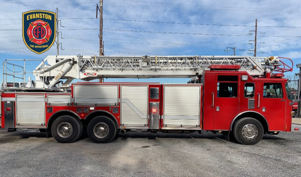 former Lisle-Woodridge Fire Protection District aerial ladder truck