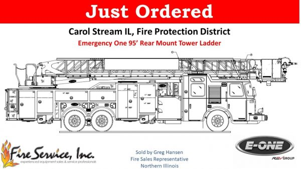 Carol Stream Fire District orders E-ONE tower ladder