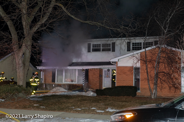 smoke at house fire