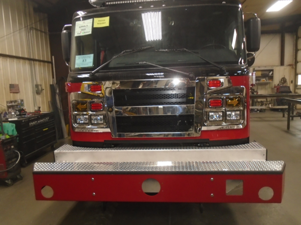 custom bumper for Rosenbauer fire engine