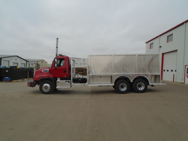 Rosenbauer tender being built on a Freightliner 114SD chassis for the Northwest Homer FPD
