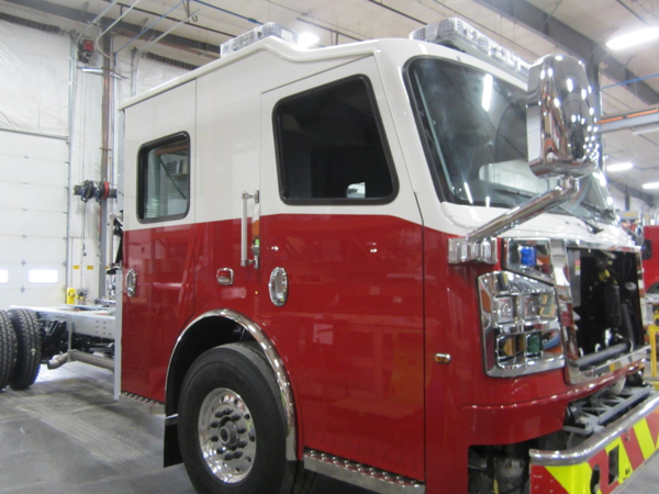 fire engine being built for the Lemont FPD