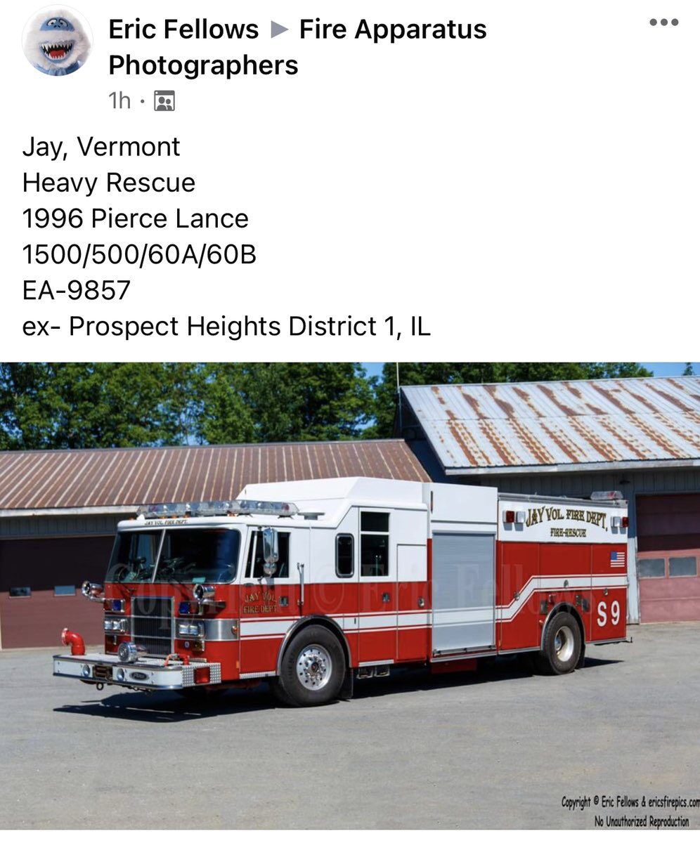 former Prospect Heights FPD Squad 9