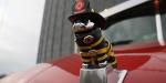 Firefighter themed Mack Bulldog ornament