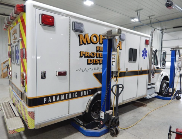 ambulance rehab by Alexis Fire Equipment
