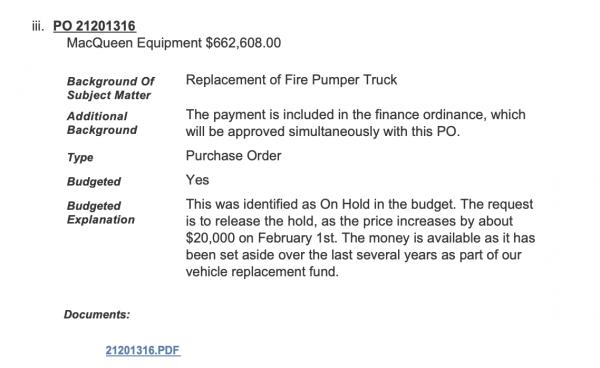Westmont FD purchases Pierce Impel pumper