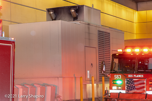 Generator fire at the Rivers Casino