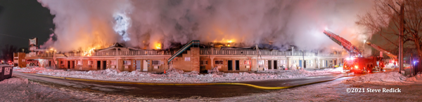 O'Hare Kitchenette Motel destroyed by fire
