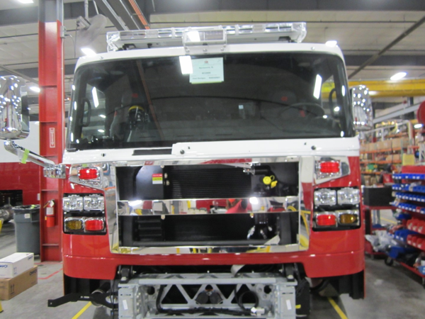 fire engine being built for the Sycamore FPD