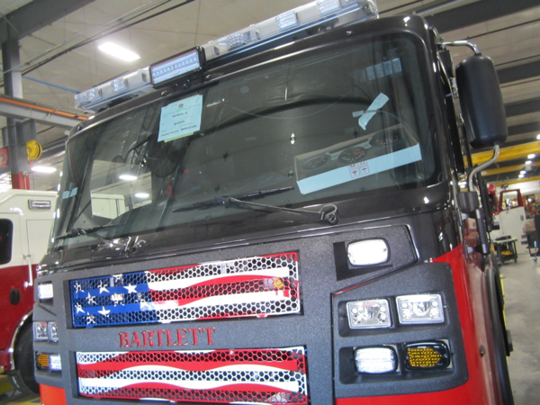 fire engine being built for the Bartlett FPD