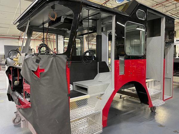 E-ONE Cyclone cab being built