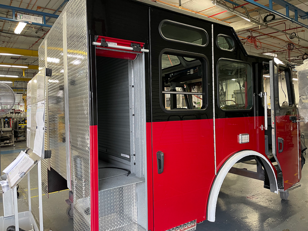 E-ONE Cyclone fire engine cab being built