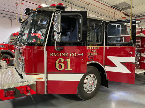 E-ONE Cyclone fire engine after lettering