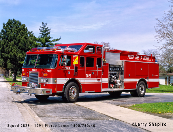 1991 Pierce Lance super command cab pumper