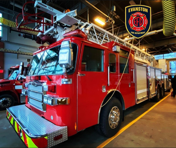 ormer Lisle-Woodridge Fire Protection District aerial ladder truck purchased by Evanston
