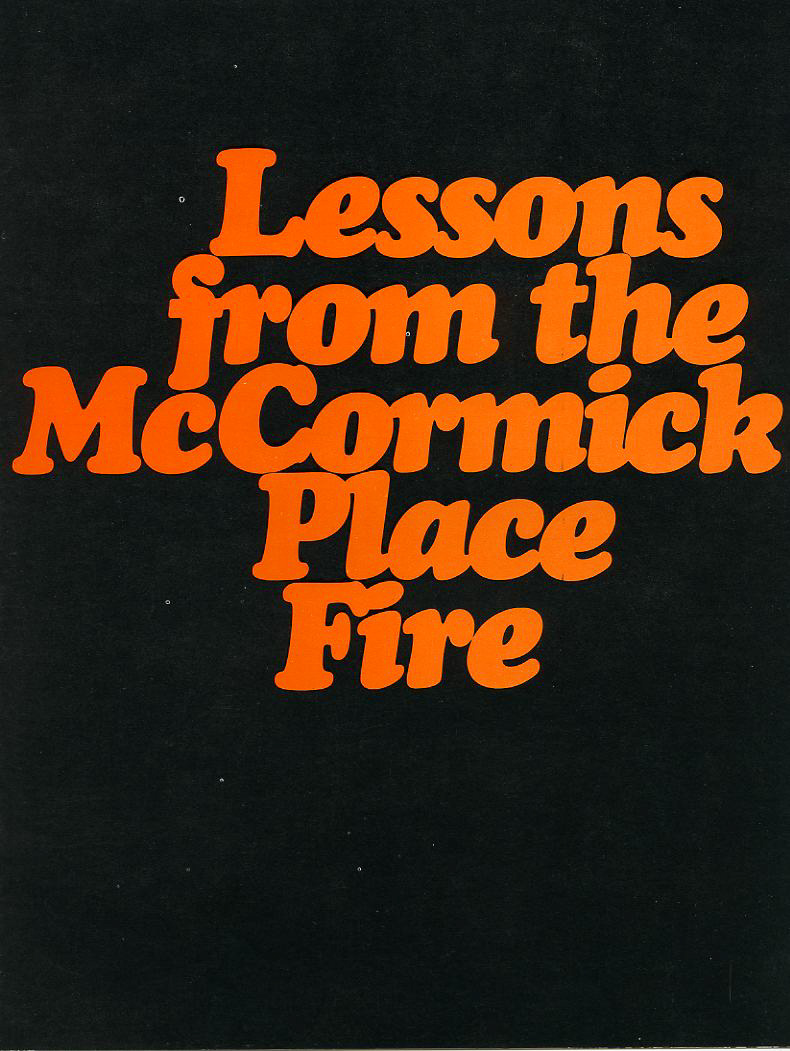 1967 fire that destroyed McCormick Place in Chicago